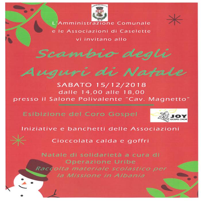 Auguri Di Natale In Albanese.Auguri Di Natale A Caselette Vallesusa Tesori