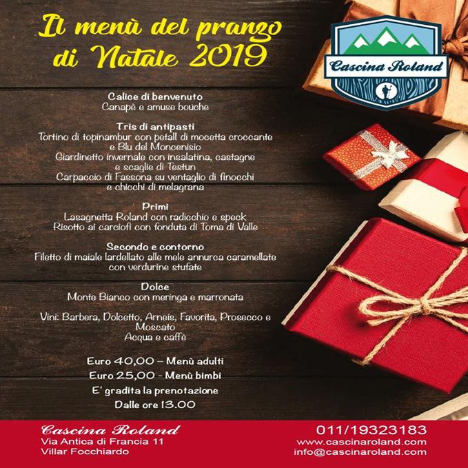Menu Di Natale Francese.Pranzo Di Natale A Cascina Roland A Villar Focchiardo Vallesusa Tesori