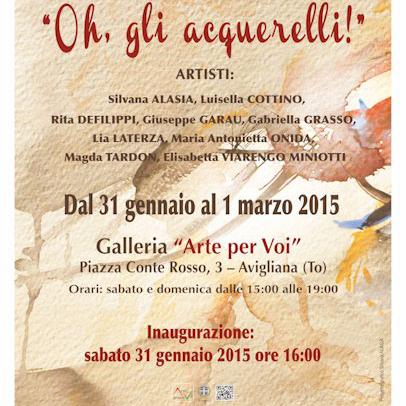 Mostra di acquerelli ad Avigliana | Vallesusa Tesori